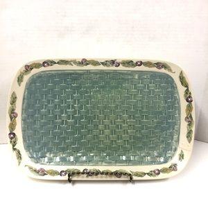Pfaltzgraff Jam Berry Basket Weave Serving Platter